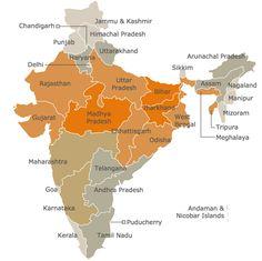 Malnourishment in India - interactive map