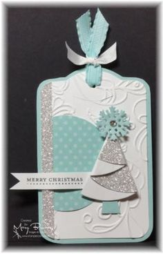 Mary Brown's tag idea using Connie Babbert's folding tree