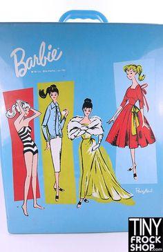 Barbie Vintage Blue Ponytail 1961 Mattel Barbie Case
