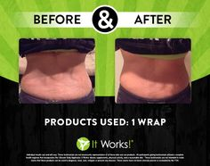 Amazing results once again by the It Works Body Wraps! Where would YOU like to tighten, tone, or firm? Click the pin to see how you can get $40 off! http://newlifebodywraps.com/wrap #NewLifeBodyWraps #skinnywraps #buybodywraps #ultimatebodyapplicator