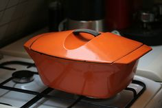 I love my vintage Le Creuset pot, designed by Raymond Loewy