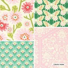 Clementine Fabric Pack Heather Bailey Model: HB4FQCLEME £12.80