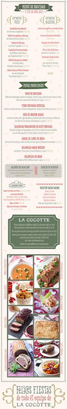 La Cocotte Menú de Navidad y Fin de Año 2012. Our Christmas menu.