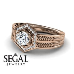 Rings Vintage Vintage Engagement Ring by Segal Jewelry - Have you always dreamt to get proposed with an absolutely unique designed ring? Our 'Peyton' ring is the gorgeous Art Deco Edwardian ring that you can dream of for your engagement ring. Unique Diamond Engagement Rings, Vintage Engagement Rings, Diamond Rings, Solitaire Engagement, Gold Rings, Edwardian Ring, Wedding Rings Vintage, Gold Wedding, Jewelry