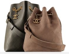 2016 newest collection Chanel ultra solf smooth calfskin leather bucket bag and suede drawstring bag Beautiful Handbags, Beautiful Bags, Chanel Handbags, Purses And Handbags, Chanel Bags, Art Chanel, Latest Handbags, Designer Handbags, Chanel Fashion
