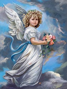 SANDRA KUCK June Rose Angel Art Prints