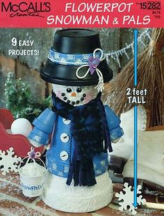 McCall's Creates Flowerpot Snowman and Pals Pattern 9 easy projects