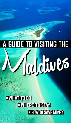 The Maldives is a brilliant and cheap destination for beach lovers, scuba divers, snorkelers, and people who love the sun! Here your guide to the Maldives showing you how to make the most of your Maldives trip by telling you what to do, where to stay a Ways To Travel, Places To Travel, Travel Destinations, Travel Tips, Maldives Destinations, Travel Hacks, Holiday Destinations, Travel Advice, Maldives Travel