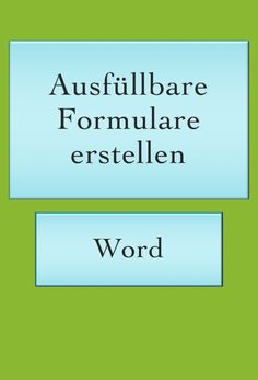 Word Tipps: Formulare Word Tips: Create forms that can be filled out. IT tips and tricks. The Words, Whatsapp Tricks, Money Plan, Savings Planner, Budget Planer, Information Technology, Finance Tips, Business Tips, Business Design