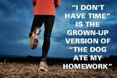 Make time. Thanks running-running-running!