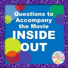 Great end of the year activity; 20 movie questions to accompany the movie Inside Out. Students get to watch a movie while assessing their knowledge of narrative elements and figurative language. Skills assessed are: metaphor, allusion, personification, plot, setting, theme, characters.
