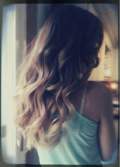 ombre curls #hair #hairstyle
