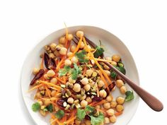 Salty and sweet are two of our favorite things. They both come together in this filling, colorful meal. Super easy to prepare and with ingredients that won't wilt easily, this legume-based salad makes a great option for packing lunch ahead of time. Soft chickpeas combine with crunchy carrots, salty pistachios, and sweet dates for a different flavor profile in every bite. The ingredients are easily substituted based on what you have on hand. A variety of beans, crunchy veggies, and roasted…