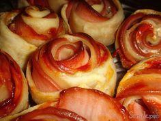 Розочки из слоёного теста с колбасой рецепт с фото