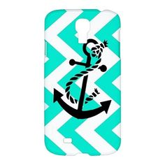 Neptunian Anchor Chevron Pattern Samsung Galaxy S4 S 4 Hardshell Case Cover