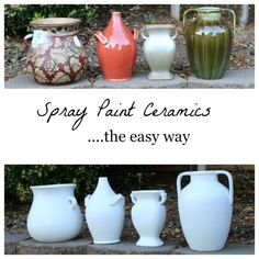 Transform your ceramic cast offs with spray paint....so easy!!!
