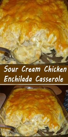 Ingredients : 4 cups diced cooked chicken 1 can cream of chicken soup 8 oz. - Recipes - Ingredients : 4 cups diced cooked chicken 1 can cream of chicken soup 8 oz. How To Cook Chicken, Cooked Chicken, Creamed Chicken, Chicken Soups, Chicken Recipes, Mexican Chicken Casserole, Chicken Enchiladas With Cream Of Chicken Soup Recipe, Chicken Burrito Casserole Recipe, Sour Cream Chicken Casserole