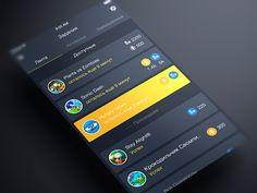 UI/UX - App Design Inspiration(via PFI App Feed screen by ALEX BENDER  )