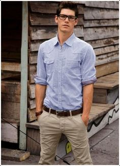 Light colored pants always pair well with formal and informal shirts.