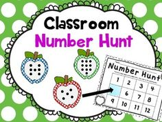 Your students will love searching around the classroom for the hidden apples with dots for counting! Hand them a clipboard, and they will love it even more.