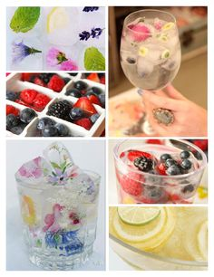 frozen ice cube berries. Great for summer entertaining