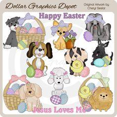 Pretty Easter Baskets 1 - Clip Art - $1.00 : Dollar Graphics Depot ...