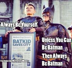Always Be Batman!  Well done city of San Francisco & Make a Wish Foundation for making this wee mans dream come true! <3