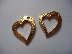Drops Charms Antiqued Gold Plated by DarsJewelrySupplies on Etsy