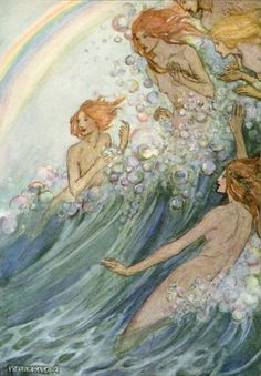≍ Nature's Fairy Nymphs ≍ magical elves, sprites, pixies and winged woodland faeries - Emma Florence Harrison: Sea Fairies.