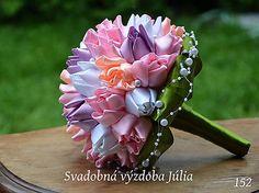 svadobná látková kytica, tulipány, 60e