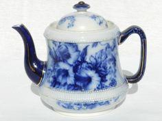 Carlton Ware Flow Blue Petunia Tea Pot