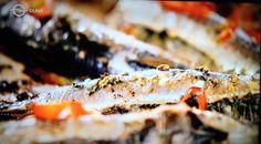 sült Szardínia:Jamie Oliver féle gyors sült Szardíniahozzávalói:8-10 friss szardínia vagy 5-6 makréla, a szardíniát nehezebb itthon