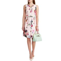 Buy Ted Baker Deavon Floral Printed Dress, Nude Pink Online at johnlewis.com So wish I had a wedding to go to this summer!! Birthday present!! Love it