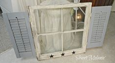 "~Sweet Melanie~ Make your own window from ""old"" windows and shutters."