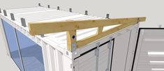 Landscaping / Carports / Converted / Modified Maritime Containers - Build Container Home Shipping Container Workshop, Shipping Container Storage, Shipping Container Buildings, Shipping Container Home Designs, Shipping Containers, Shipping Container Conversions, Sea Container Homes, Building A Container Home, Container House Design