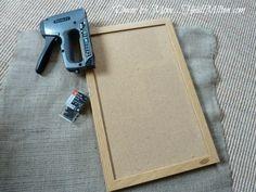 Hometalk :: DIY Burlap Corkboard
