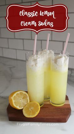 A classic, fresh and delicious recipe for Italian Lemon Cream Soda. A perfect drink for a easter gathering or any springtime party. #lemon #creamsoda #fundrinks #partydrinks
