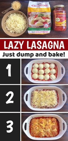 Italian Recipes, New Recipes, Cooking Recipes, Favorite Recipes, Lazy Lasagna, Super Easy Dinner, Easy Family Dinners, Quick Meals, Easy Dinner Recipes