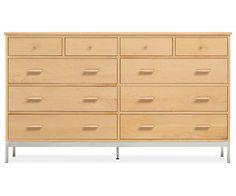 Room & Board - Linear 67x20 38h Ten-Drawer Dresser with Steel Base