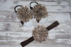 BUY 2 GET 1 FREEBaby Barefoot Sandals w/ matching by GirliesGalore, $10.29