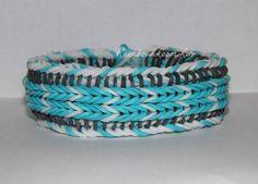 Triple Stripe Fishtail - EACH SOLD SEPARATELY - Reverseible - Rainbow Loom…