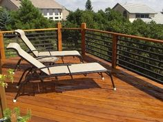 Deck railing with heavy gauge black rail
