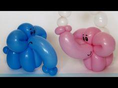 Слоненок из одного шара / Elephant calf of one balloon twisting - YouTube