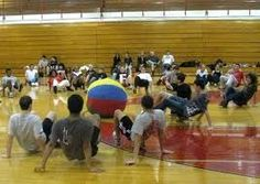Crab Soccer!!!!!  Loved it!! ahh the good old days of elementary pe with mr vermie lol