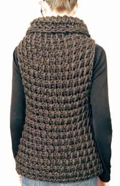 Tunisian Crochet Instructions to make: the Knit TC Vest PDF Pattern Easy Knitting Patterns, Afghan Crochet Patterns, Simple Knitting, Tunisian Crochet, Knit Crochet, Crochet Vests, Crochet Capas, Vest Pattern, Free Pattern