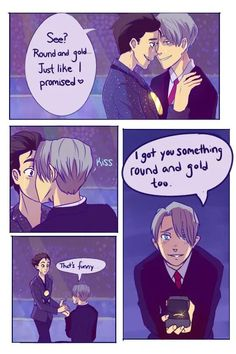 Read Some comics from the story Yuri! On Ice comics, pics, and ships! All Out Anime, Victor Y Yuri, Yuri On Ice Comic, Yuri!!! On Ice, Katsuki Yuri, Fangirl, Comic Manga, Levi X Eren, Comic Pictures