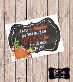 Little Pumpkin Big Thank Tou Tags//Fall Thank You Stickers/Tags// Employee/Teacher/Staff Appreciation - Thanksgiving Messages Appreciation Message, Employee Appreciation Gifts, Volunteer Appreciation, Employee Gifts, Teacher Thank You, Thank You Gifts, Fall Teacher Gifts, Thanksgiving Teacher Gifts, Employee Thank You
