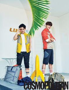 Dong Jun and Hyung Sik - Cosmopolitan Magazine May Issue '15
