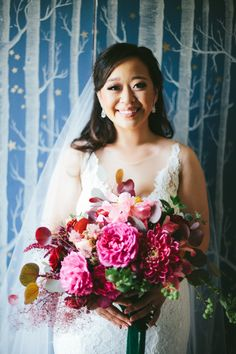 Outdoor Los Angeles Wedding with Ruby Red Details, Wedding Planner: Moxie Bright Events Florals: Of the Flowers Floral Wedding, Wedding Bouquets, Alternative Bouquet, Wedding Officiant, Bridal Flowers, Real Weddings, Pink Weddings, Perfect Wedding, Wedding Inspiration