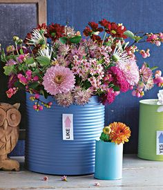 Chrysanthemen-Deko in der Dose - Deko-Ideen mit Chrysanthemen - [LIVING AT HOME]